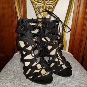 H&M lace up heels